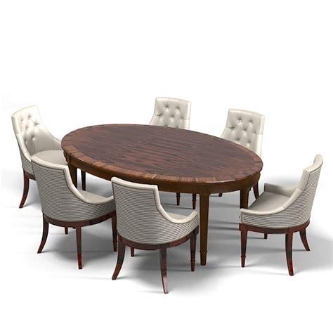 3ds Max Galimberti Nino Oval Max Dining Table