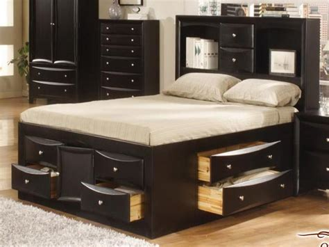 beautiful full size bed with storage drawers modern