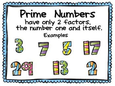 printable prime number poster 18 best images about prime composite numbers on pinterest