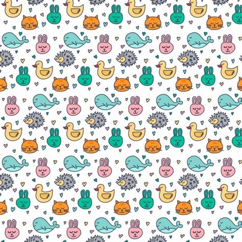 download pattern cute pattern with cute animals vector free download