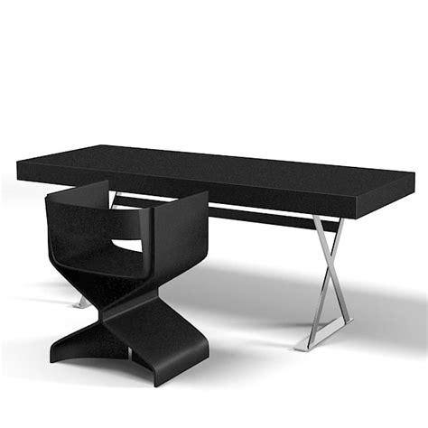 Modern Desk Table 3d Model Vanity Work Table