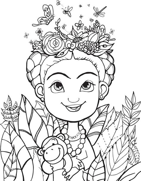 libro frida kahlo colouring books dibujos para colorear de frida kahlo imagui nancy frida kahlo frida y colorear