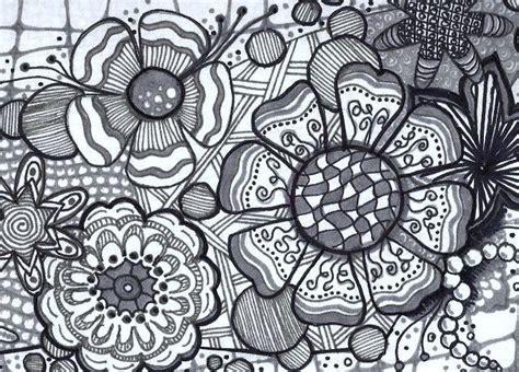 doodle pattern tiles flower zentangle tile by katie butler czt zentangle art