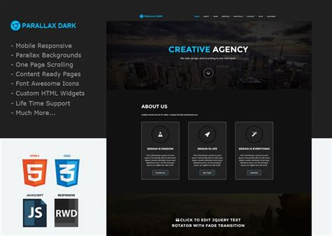 weebly custom templates parallax a one page custom weebly template that