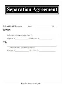 separation papers template free separation agreement template archives templates