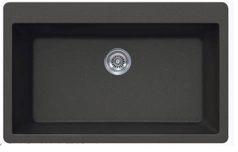 black quartz composite single bowl undermount drop in