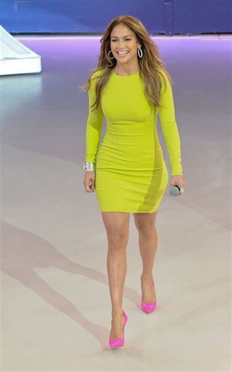 Style Jlos Dress style j lo wears yellow neon dress with a
