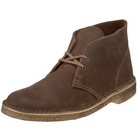 clarks desert boots mens clarks desert boot in brown for taupe suede lyst