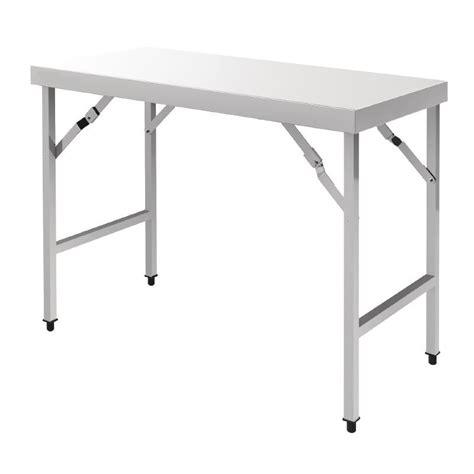 table pliante inox table pliante en inox longueur 1m20 ou 1m80