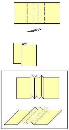 Origami Pleat Fold - origami pleat fold
