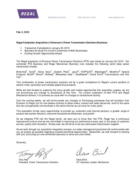 Firm Merger Letter To Clients feb 2 2015 customer communication letter