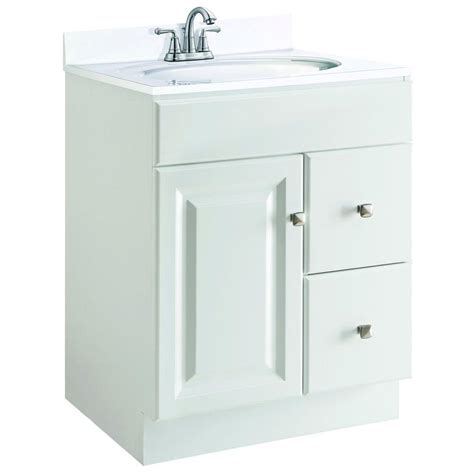 Unassembled Bathroom Vanity Cabinets Design House Wyndham 24 In W X 21 In D Unassembled Vanity Cabinet Only In White Semi Gloss