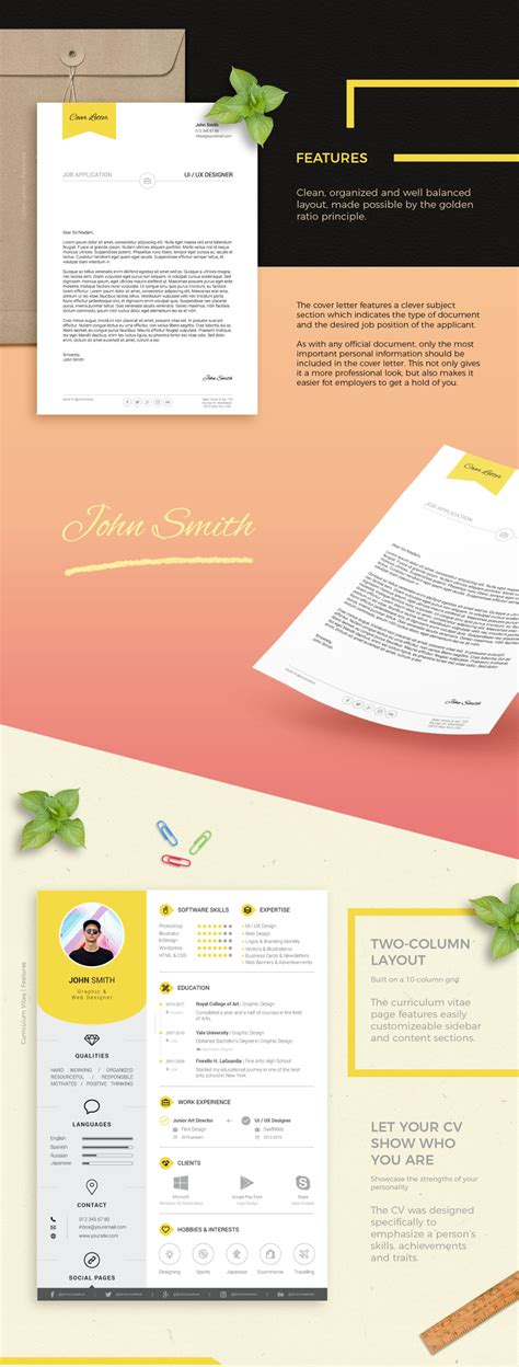 Free Resume Cover Letter Template by Resume And Cover Letter Print Templates