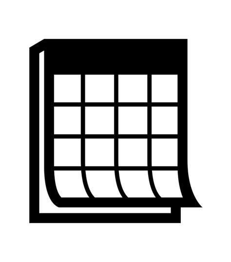 Calendar Wiki File Calendar Noun Project 1194 Svg Wikimedia Commons