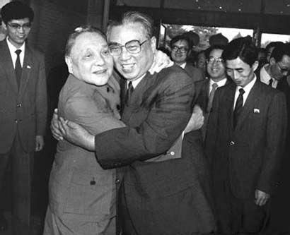 deng xiaoping gives kim il sung a hug in 1987 – everyday