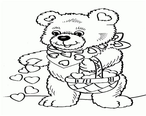 teddy bear holding a heart coloring page teddy bear holding heart colouring pages page id 70027