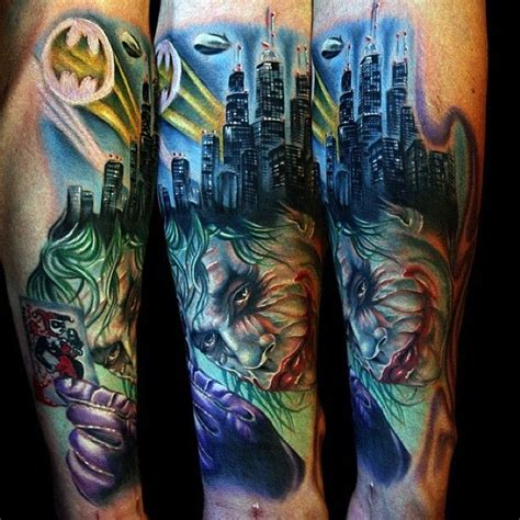 joker themed tattoo 1000 images about knight tattoos on pinterest gilbert o
