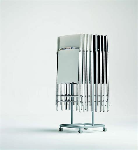 porta sedie pieghevoli carrello portasedie pieghevoli in acciaio laccato di