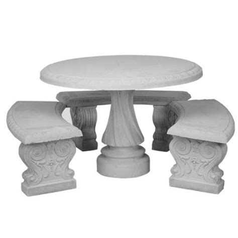 concrete table and benches price round table with 3 benches natural concrete walmart com