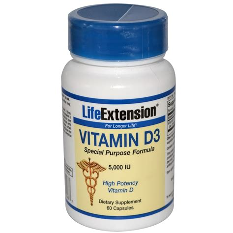 Vitamin D3 Extension Vitamin D3 5 000 Iu 60 Capsules Iherb