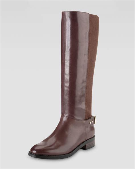 cole haan adler flat knee boot in brown lyst