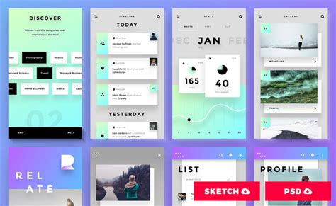 flat ui design templates free ui kits the best ui kits and templates