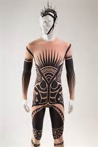 Rather striking costume in the exhibition is a man s tattoo costume