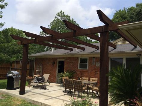 pergola attached to roof projects pinterest
