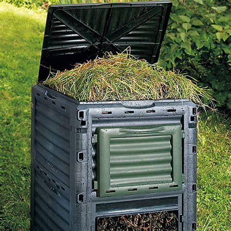 bauhaus komposter im garten thermokomposter slim line 300 l 60 x 60 x 83 cm