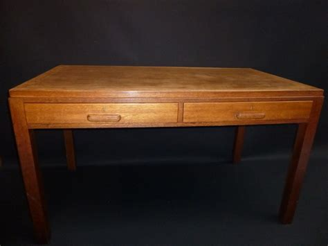 Drawers Desk by Oak Two Drawer Desk 313358 Sellingantiques Co Uk