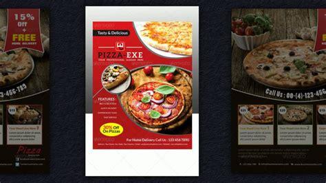 pizza flyer vorlagen pizzeria werbung pasta und pizza