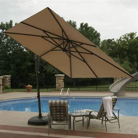 Patio Furniture Umbrella Santorini Cantilever Umbrella Side Post Patio Umbrellas