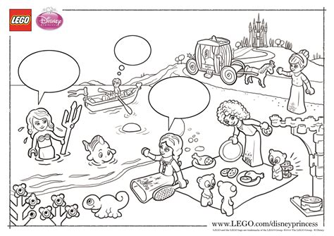 lego princess coloring pages lego disney princess coloring pages the family brick