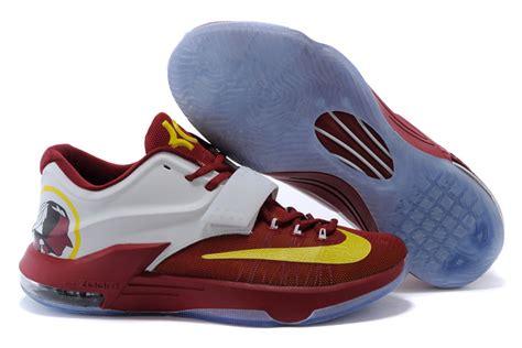 basketball shoes kd7 nike kd 7 basketball shoes burgundy white yellow