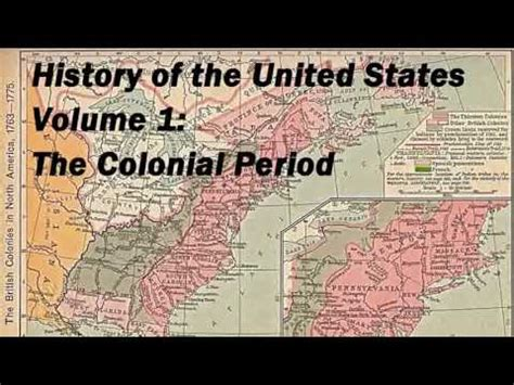 states of the union books history of the united states volume 1 colonial period