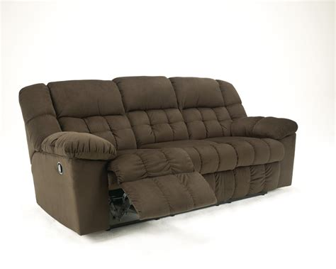 5150288 Ashley Furniture Lowell Chocolate Reclining Sofa Reclinable Sofas