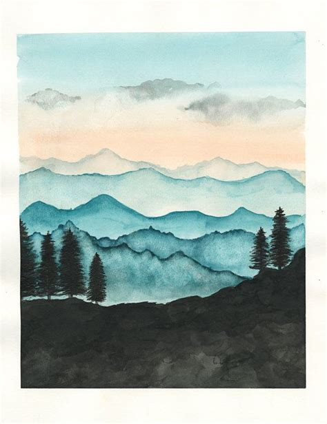 25 best ideas about mountain photos printable watercolor pictures to paint drawing