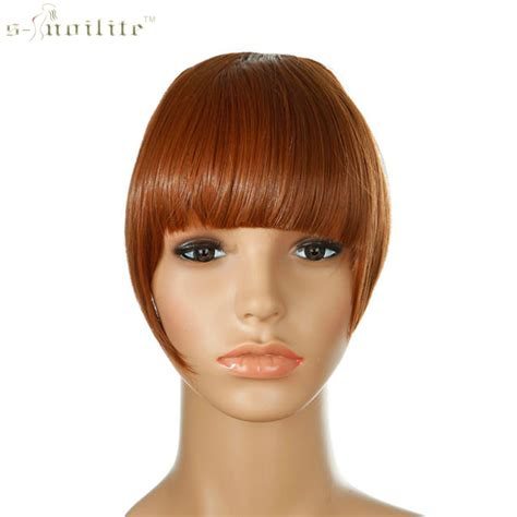 are there bang pieces for black hair snoilite women synthetic clip in bangs fringe front on