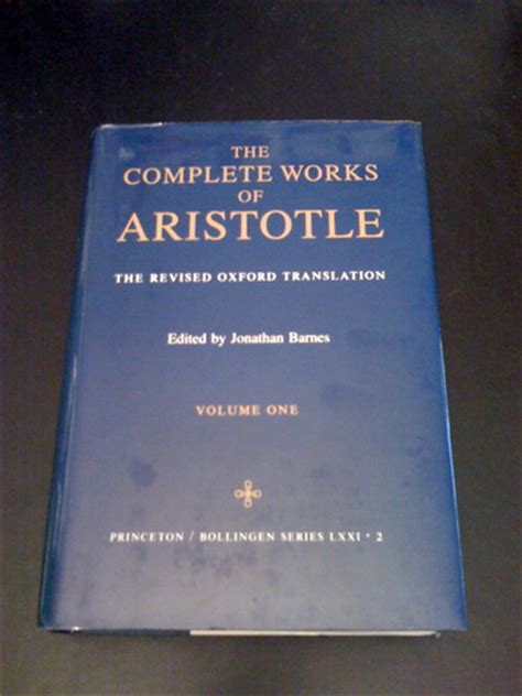 libro complete works of aristotle complete works of aristotle vol 1 aristotle jonathan