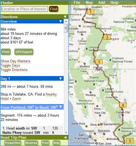 myscenicdrives com s road trip planner documentation