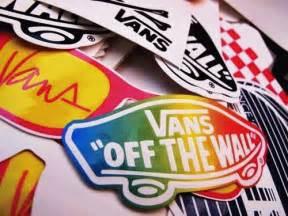 vans the wall sticker rainbow vans on