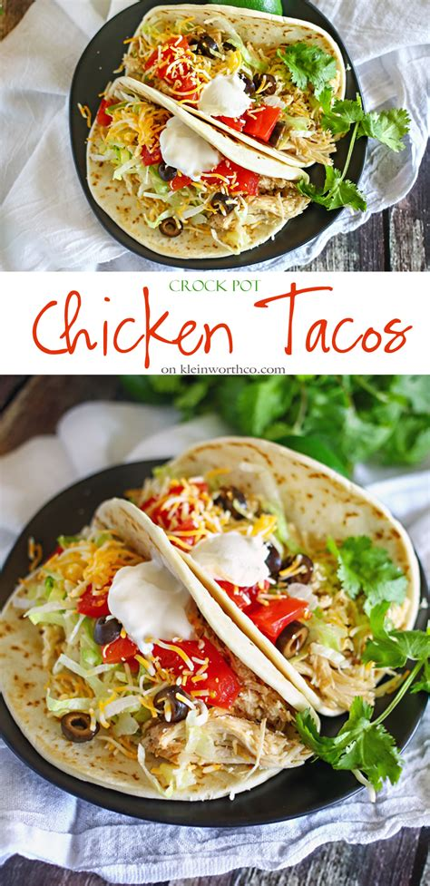 taco dinner ideas crock pot chicken tacos easy family dinner ideas
