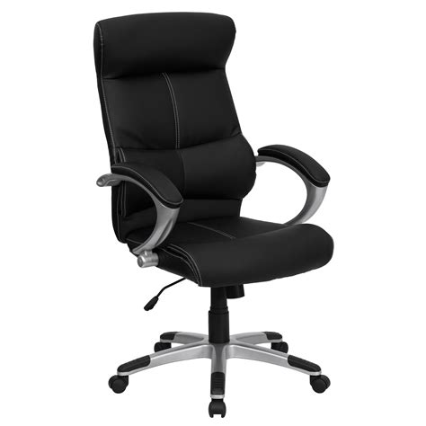 high back leather ergonomic executive office chair with