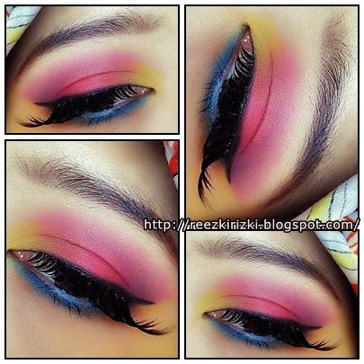 Eyeshadow Base Inez reezki s tutorial bright colorful
