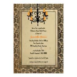 halloween bridal shower invitations halloween damask and chandelier bridal shower 5x7 paper
