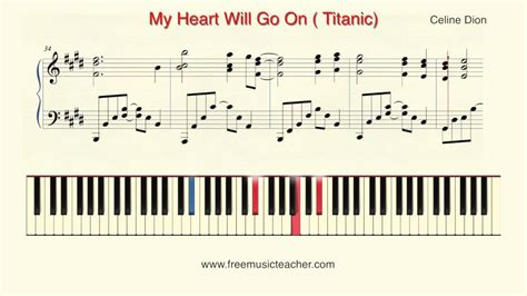 tutorial piano titanic how to play piano celine dion quot my heart will go on