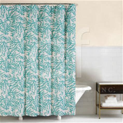 coral and blue shower curtain cora blue shower curtain