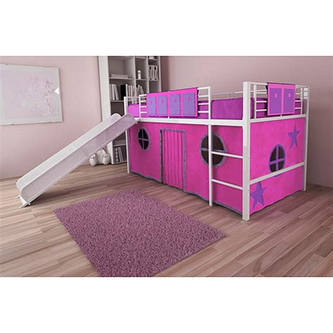 twin bed with slide childrens beds with desk and slide home decorating ideas