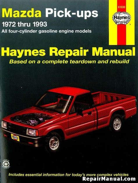 old cars and repair manuals free 1993 mazda 626 parental controls haynes mazda pick ups 1972 1993 auto repair manual