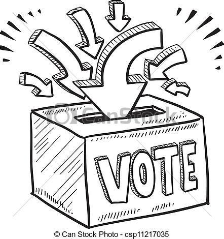 doodle abstimmung vektoren kasten skizze abstimmung stimmzettel